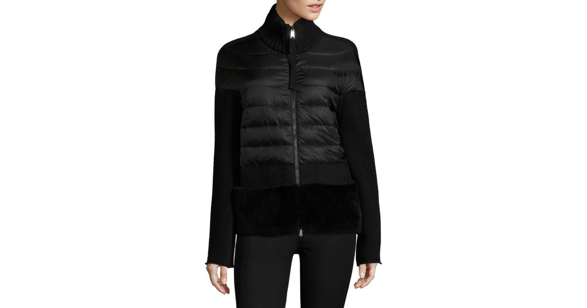 design innovativo c8b27 f0f33 Moncler Black Maglione Tricot Cardigan Jacket