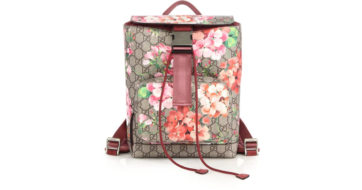 Lyst - Gucci Gg Blooms Small Backpack in Pink 1fb9cb1554bba
