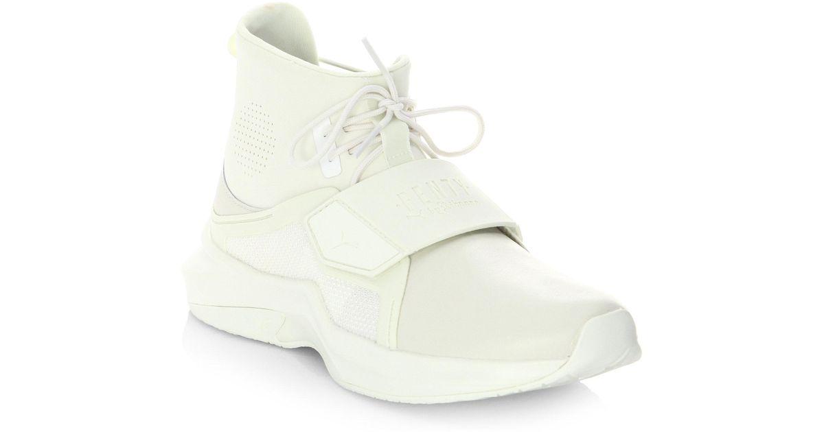 Lyst - Puma Fenty By Rihanna Hi-top Trainer Sneakers in White f80b435b0