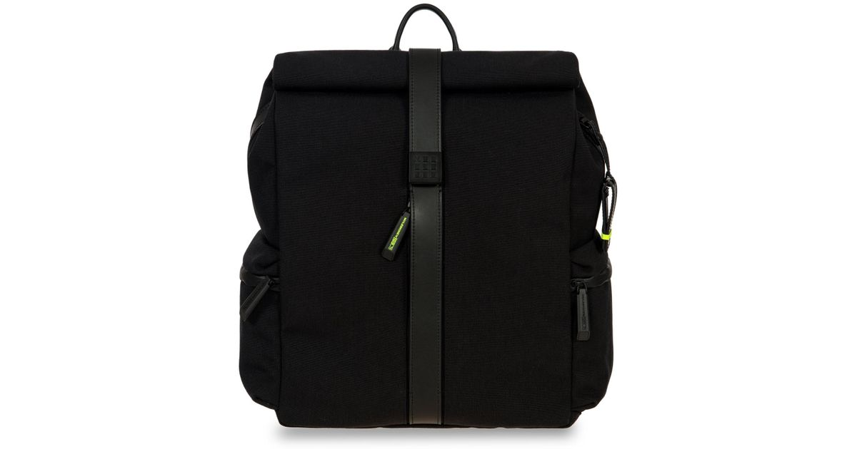 bdfca28e6c8 Bric's Moleskine Rolltop Backpack in Black for Men - Lyst