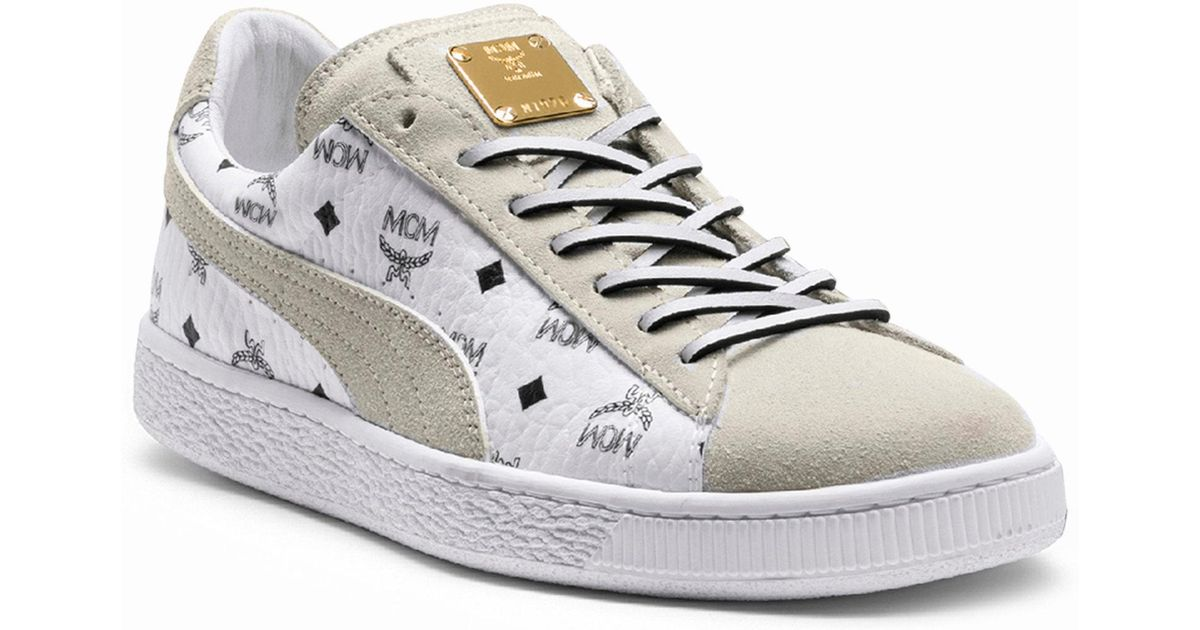 online store a48fa 14b97 PUMA White X Mcm Suede Classic Sneakers for men