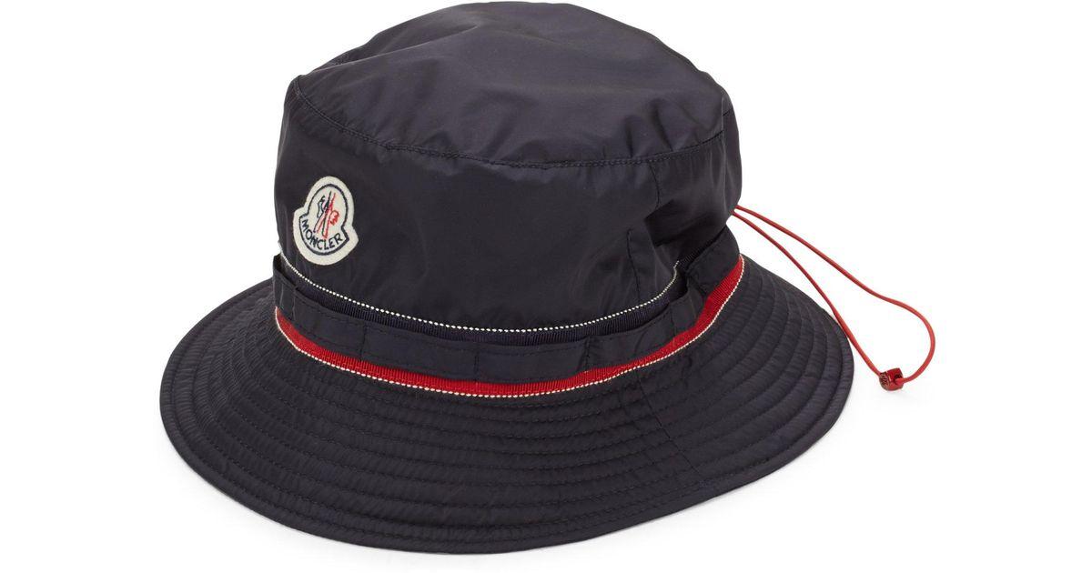 Lyst - Moncler Drawstring Bucket Hat in Blue a4d0f3623af