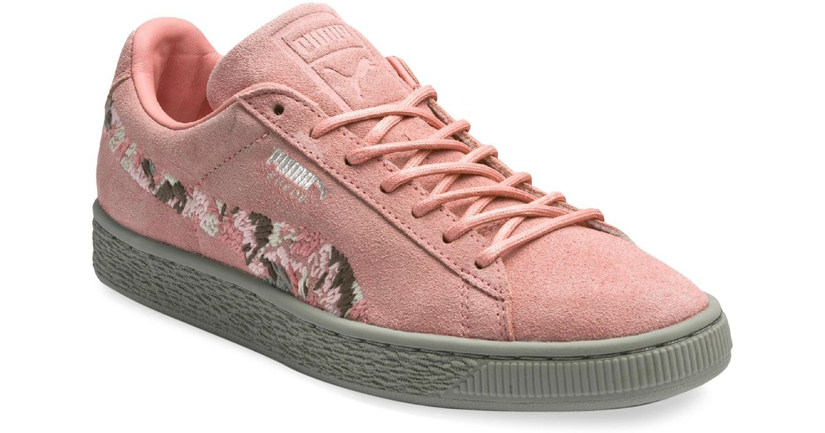 online store 5bc14 fd2c8 PUMA Pink Suede Sunfade Sneakers
