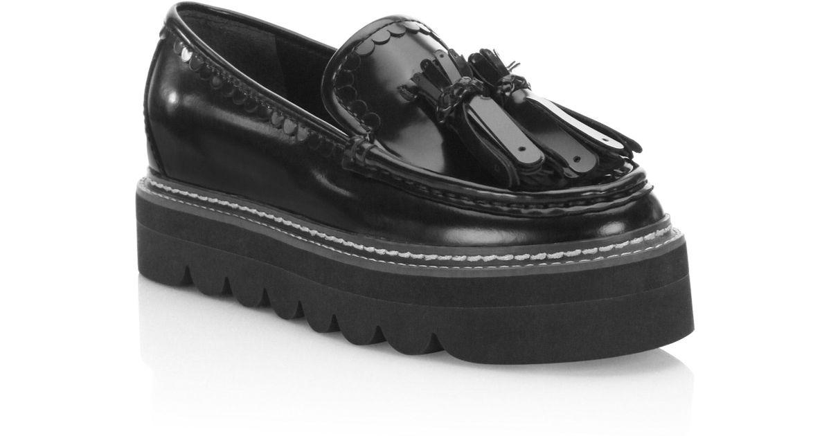 Zina Leather Platform Loafers