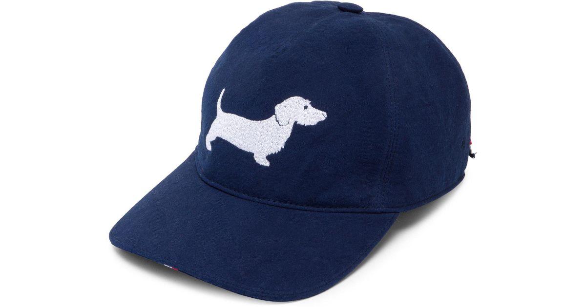 63139e304d9ec Thom Browne Dog Five-panel Baseball Cap in Blue for Men - Lyst