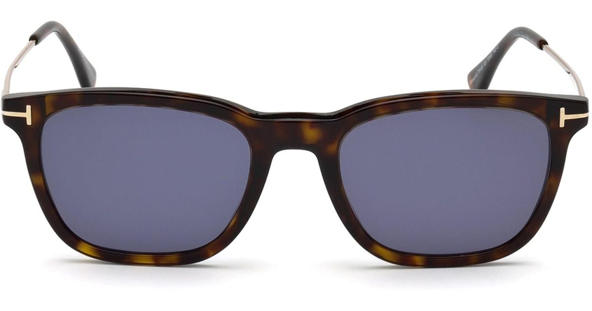 74f6702f891 Lyst - Tom Ford Arnaud 53mm Geometric Sunglasses in Blue for Men