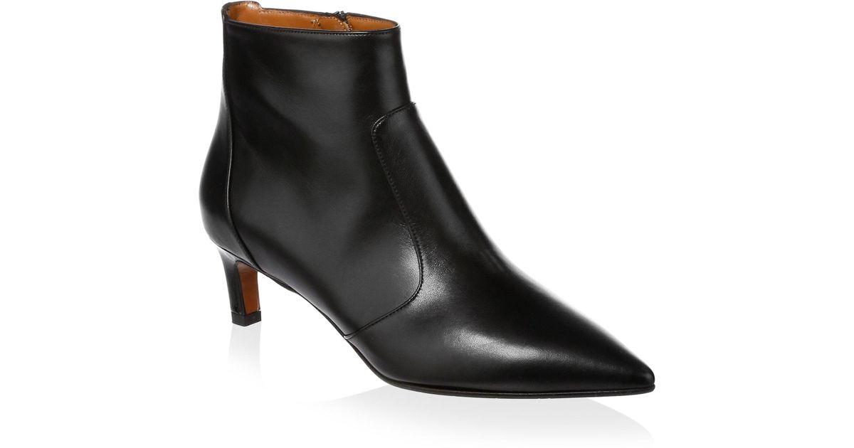 Aquatalia Marilisa Leather Point-Toe Ankle Boots cul3S1c