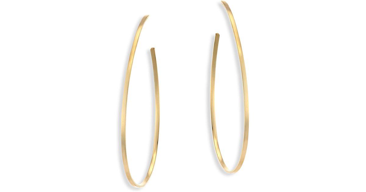 Lana Jewelry Bond Small Tear Hoop Earrings 1iTc6D