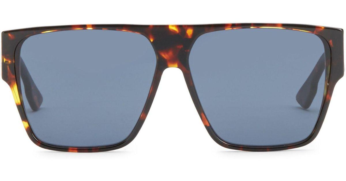 e6866e5e2dc1 Lyst - Dior 62mm Hit Flat Top Sunglasses in Brown