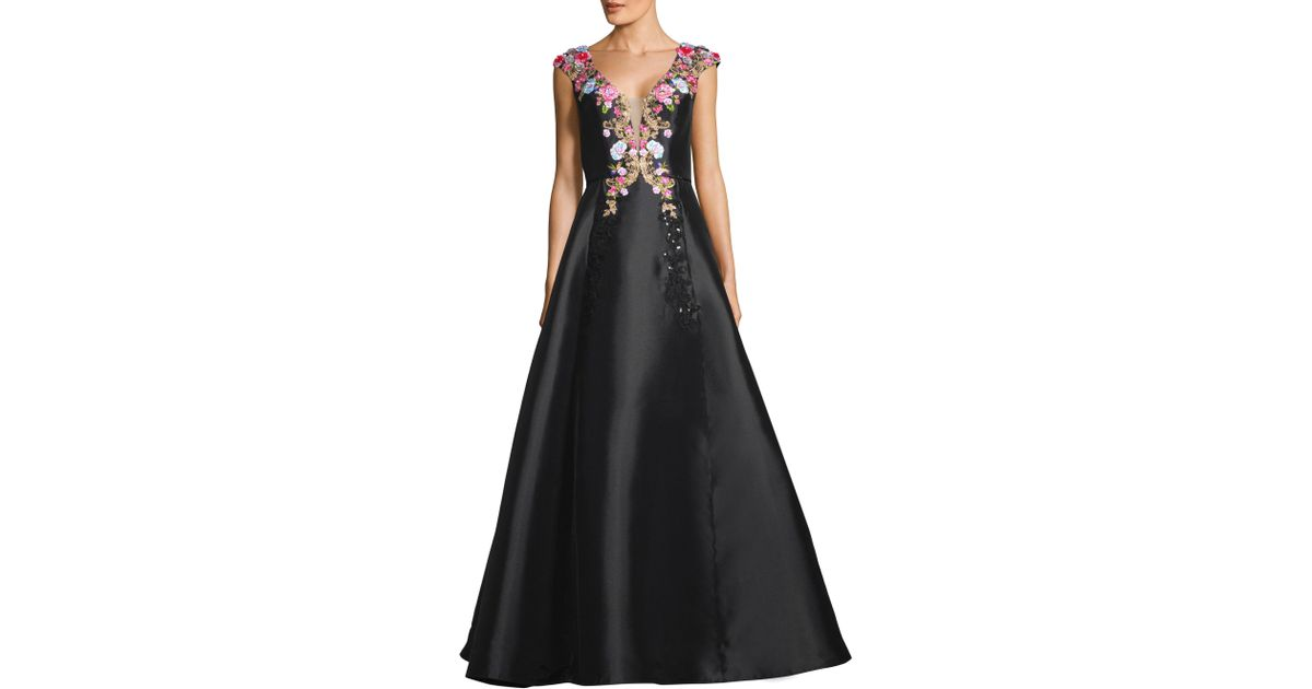 67f95e6d05a Basix Black Label Embellished Silk Ball Gown in Black - Save 66% - Lyst