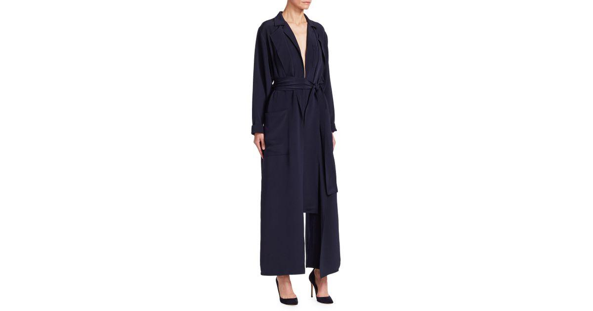 04e0a5b5350 Lyst - Ralph Lauren Collection O reilly Silk Jumpsuit in Blue