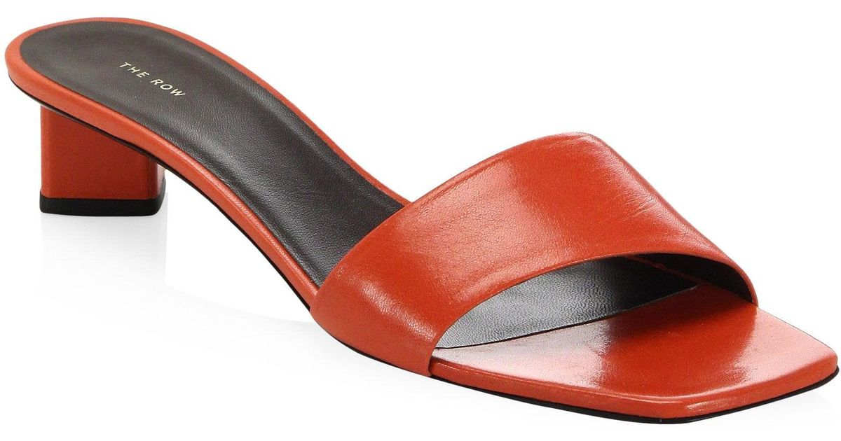 ad4991d16ee62 The Row Sandals in Red - Lyst