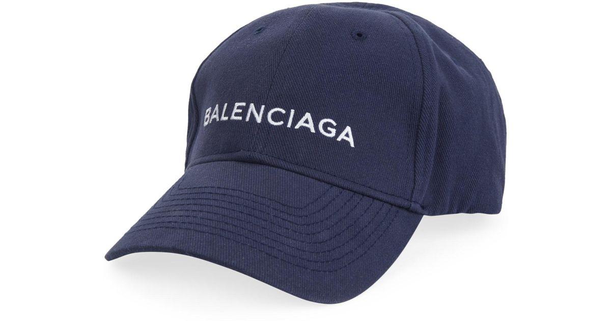 82531c4ce87 Lyst - Balenciaga New Logo Cap in Blue for Men