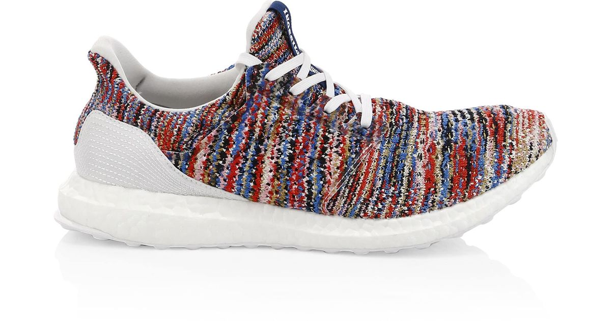 sports shoes 64e32 6354a adidas By Raf Simons Men s Ultraboost Clima X Missoni Knit Runners - White  Multi - Size 4 for Men - Lyst