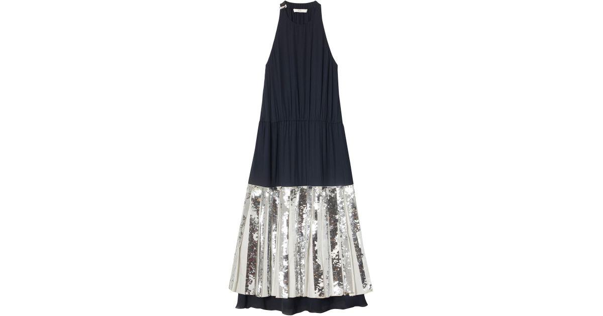 99130dc6 Tibi Claude Layered Sequin Dress in Blue - Lyst