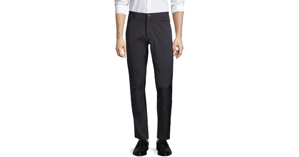 2ea96463370 Lyst - Theory Slim Tech Trousers in Black for Men