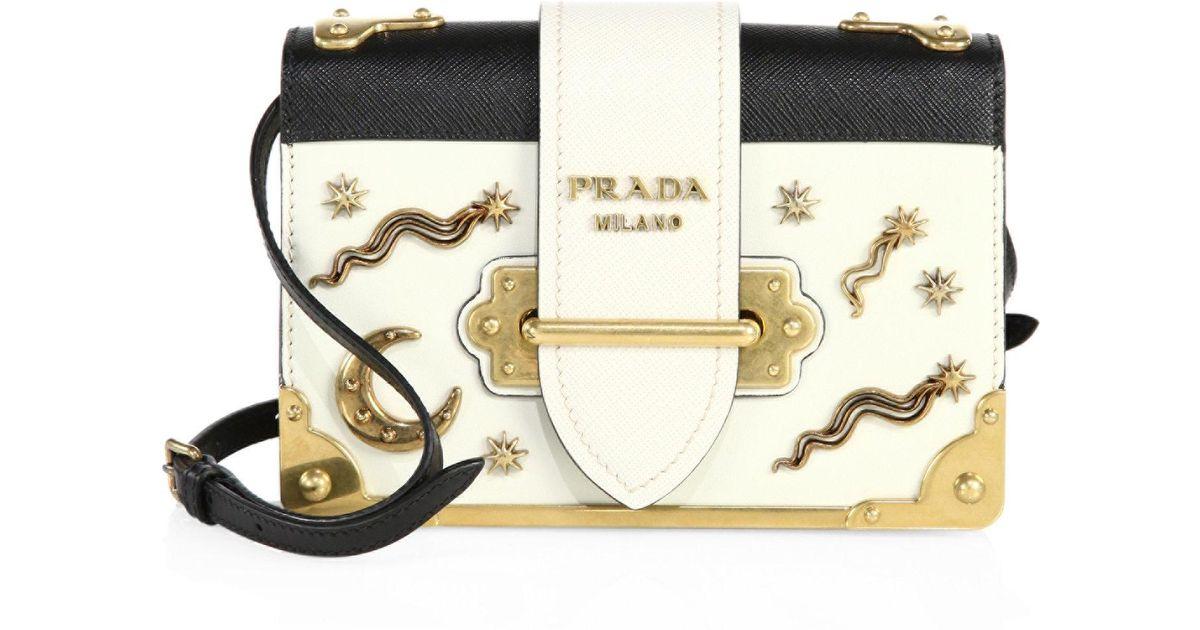 9c137fb62506 ... get prada city leather celestial cahier shoulder bag lyst 0e456 b5999  ...