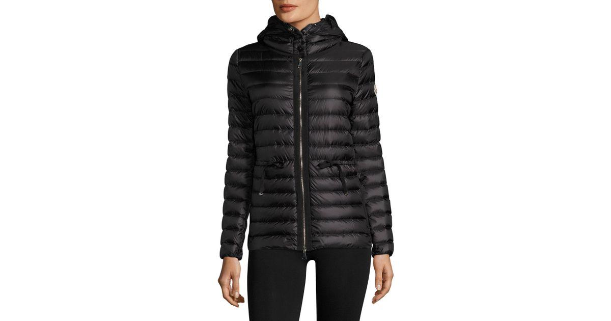 9199525fe Moncler Black Raie Hooded Quilted Jacket