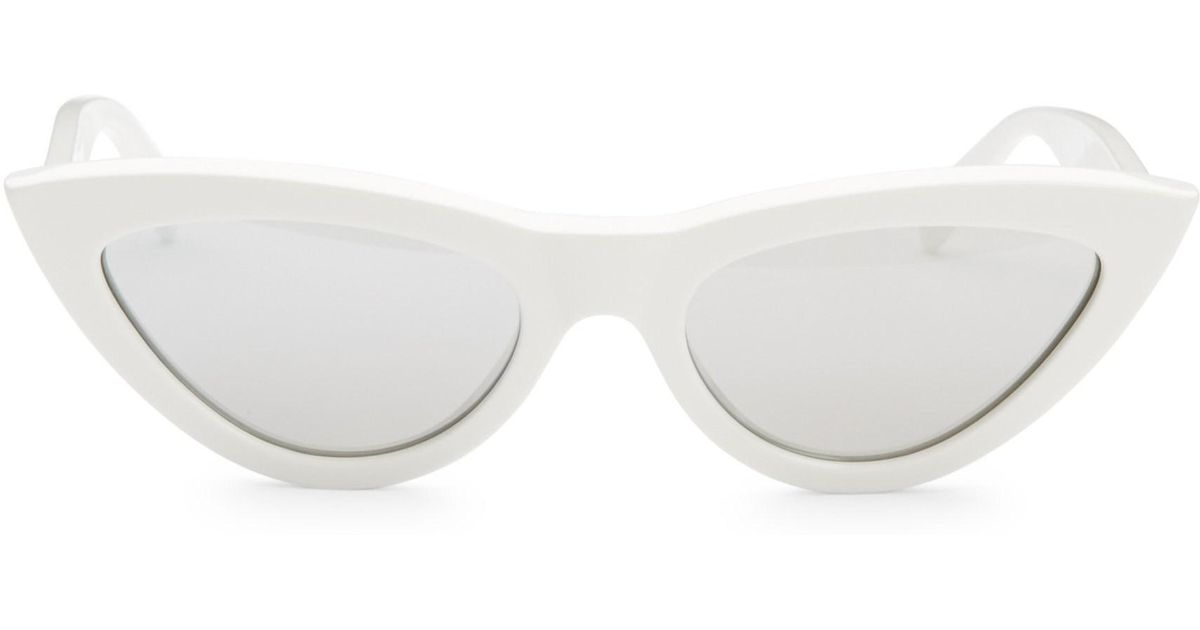 1dcffff7908a0 Céline 56mm Cat Eye Sunglasses in White - Lyst