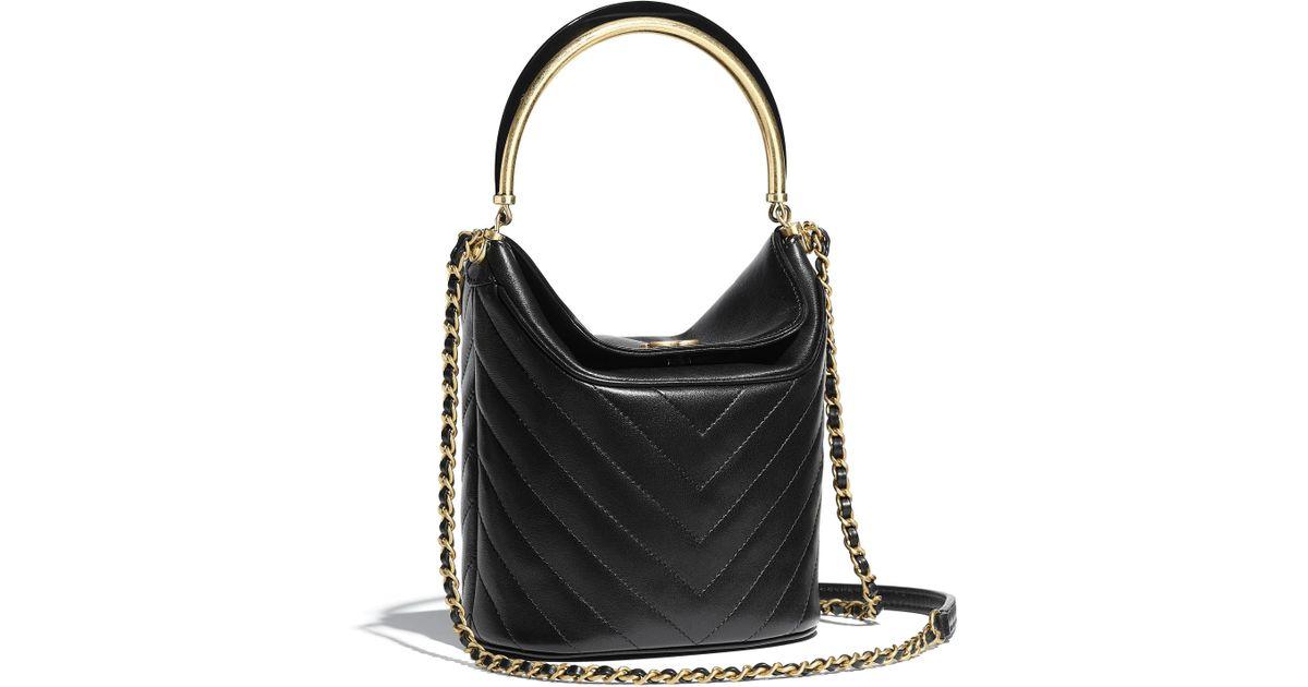 761cc442c013 Chanel Bucket Bag in Black - Lyst