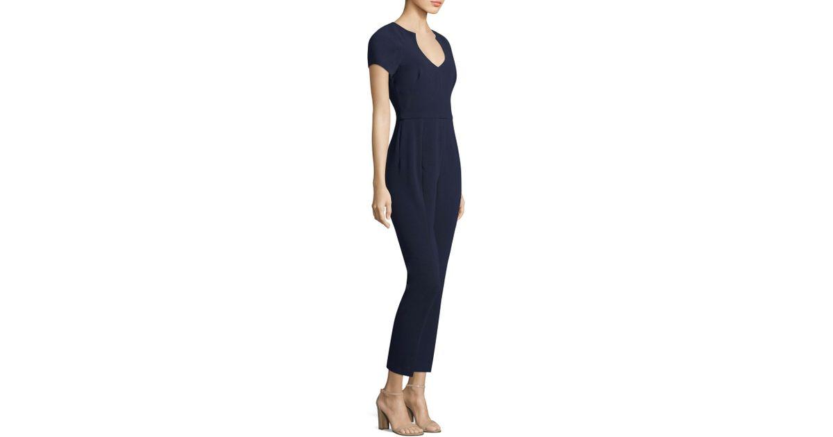 a8871ffa Lyst - Black Halo Gypsy Rose Short-sleeve V-neck Jumpsuit in Blue