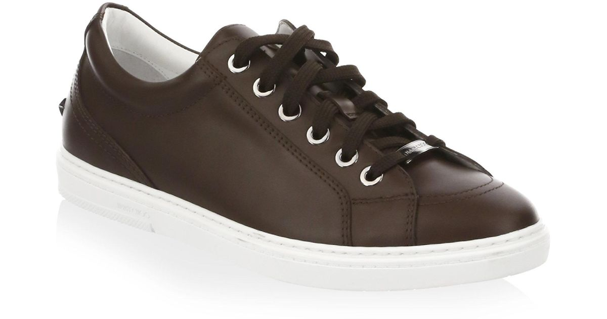 Jimmy chooCash Round Toe Low-Top Sneakers 1q8huWxT
