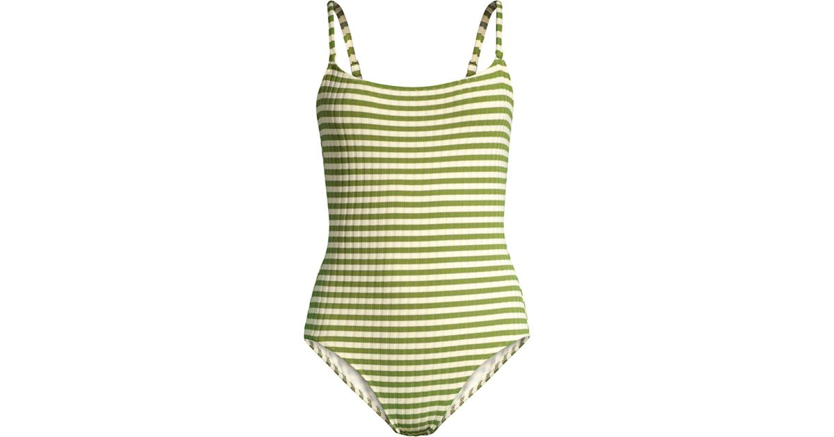 fe008ad259b126 Solid & Striped Nina Stripe Swimsuit in Green - Save 24% - Lyst