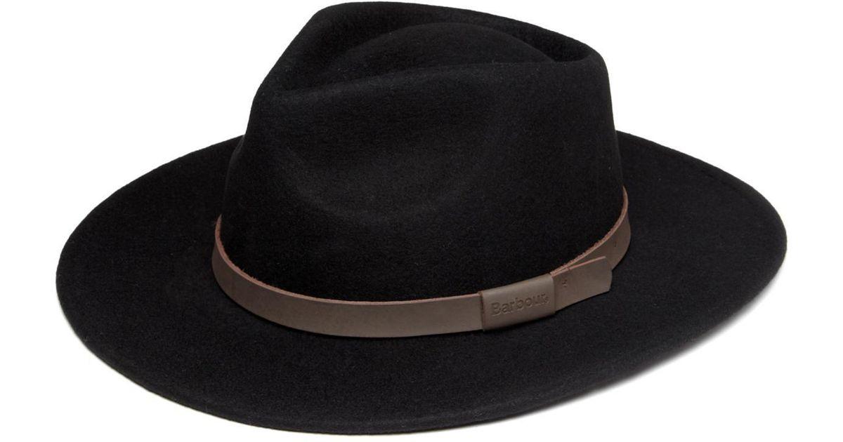 75b9b1051 Barbour Black Crushable Bushman Hat for men