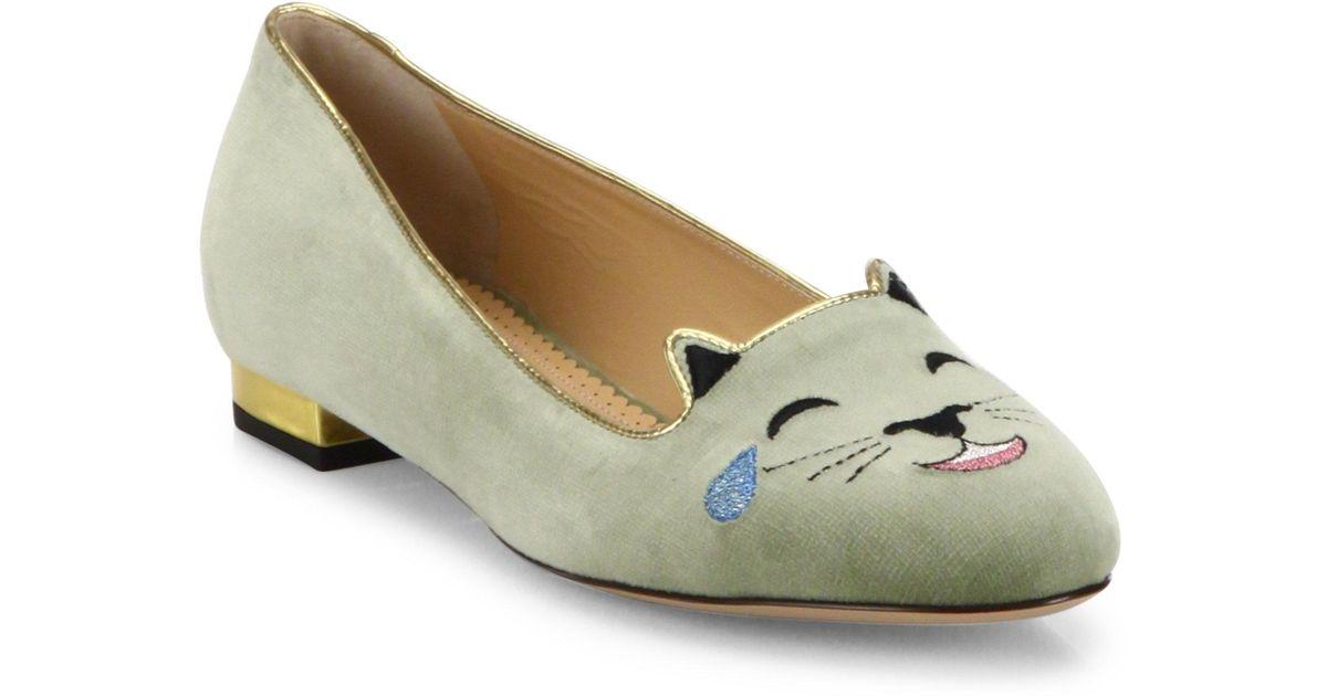 Charlotte Olympia LOL Emoticon Kitty Flats marketable sale online clearance websites XxLQRZ