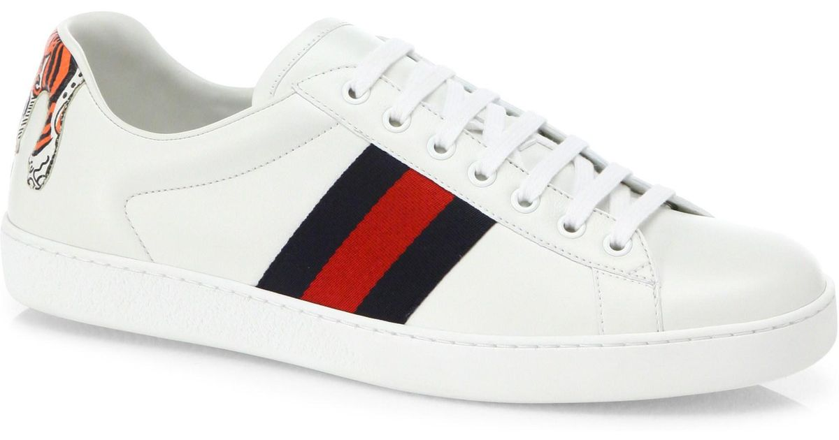 Gucci Leather New Ace Low-top Sneakers