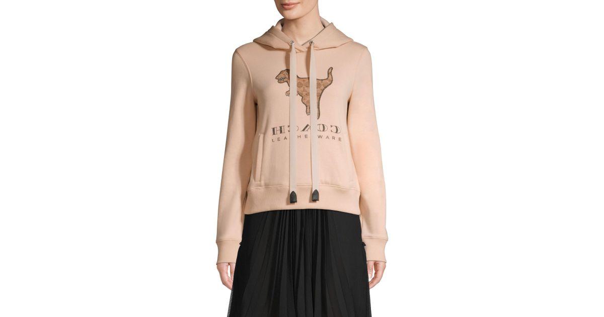 e3ba10afdc COACH Pink Signature Rexy Sweatshirt
