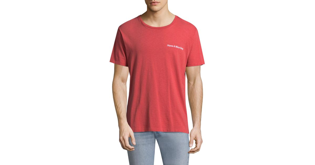 a85e8ba3 Rag & Bone Have A Nice Day Cotton Tee in Red for Men - Lyst