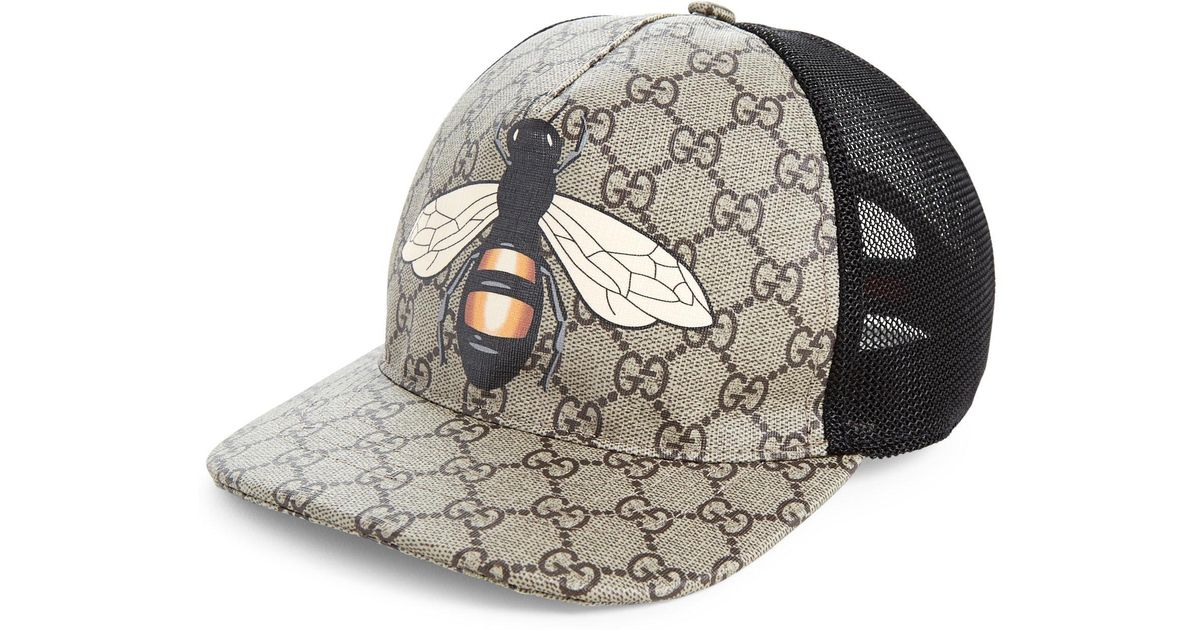 36adfc0c195 Lyst - Gucci Bee Baseball Cap in Natural for Men