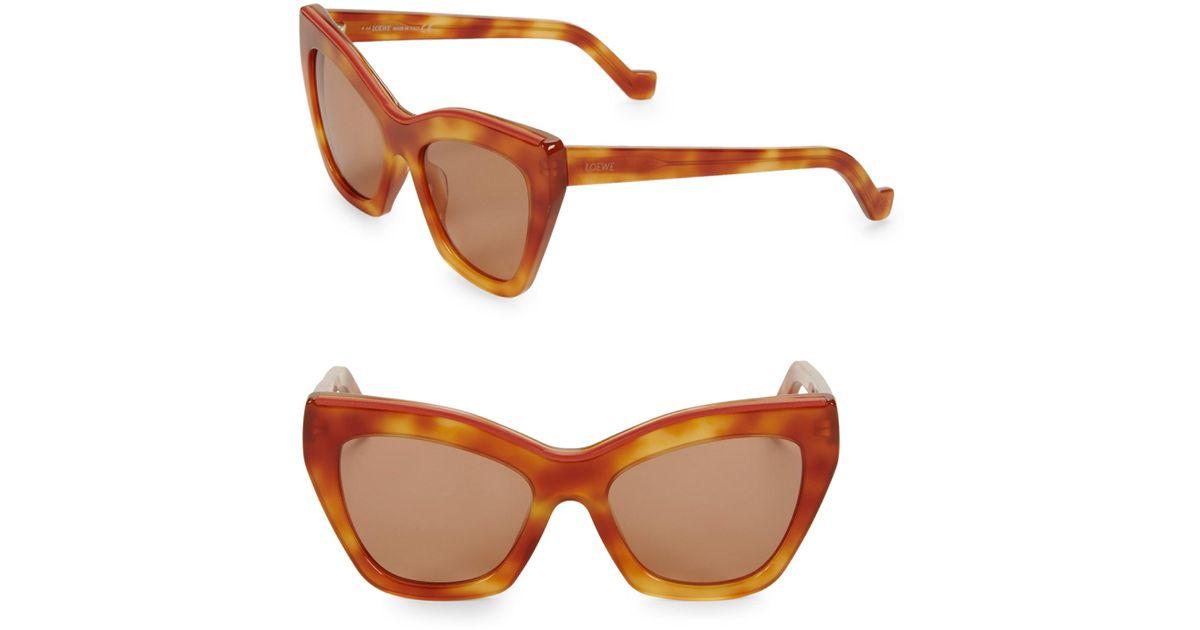 70b4df90e3c Lyst - Loewe 55mm Cat Eye Sunglasses in Brown