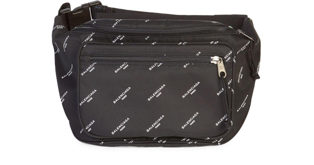 36a5a7192f2a Balenciaga Men s Explorer Belt Pack - Black White in Black for Men - Lyst
