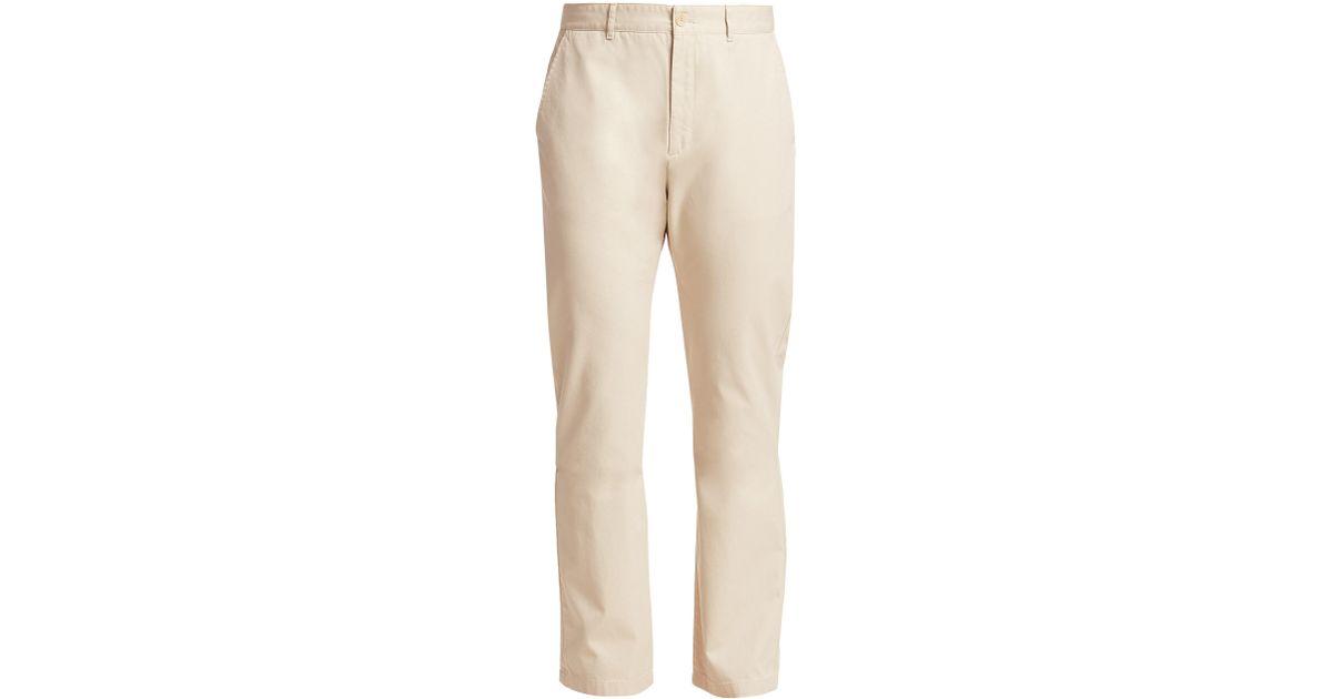 d77b0230e938 Balenciaga Men s Chino Straight-leg Trousers - Beige - Size 46 (30) in  Natural for Men - Lyst