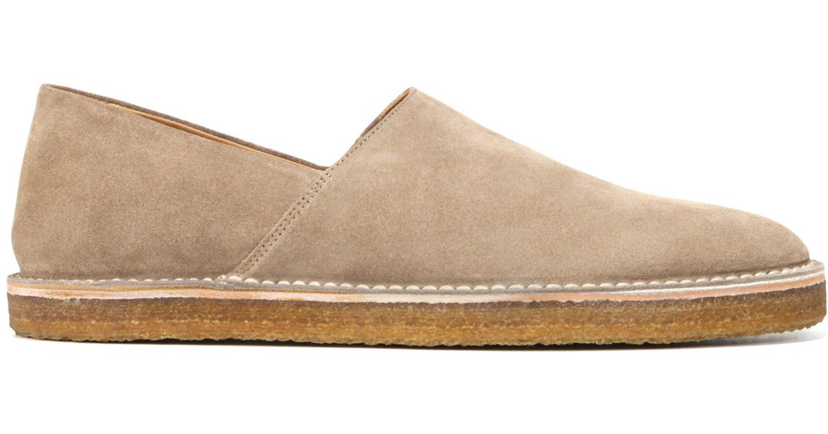 bf1258978d Lyst - Vince Gifford Suede Slip-on Shoe in Natural for Men