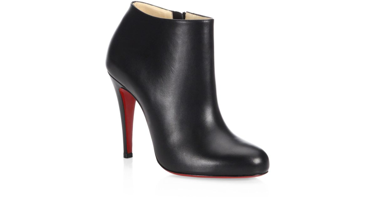 0f9221de359 Lyst - Christian Louboutin Calf Leather Ankle Boots in Black
