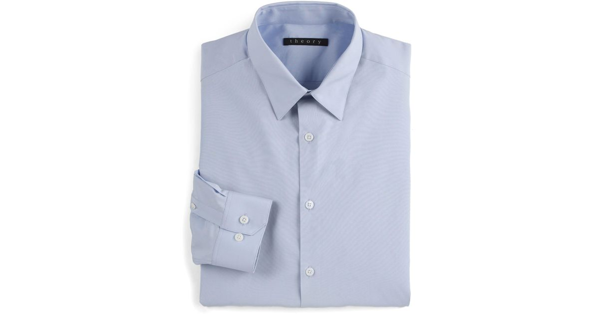 8f4645525c1 Lyst - Theory Slim-fit Dover Sword Dress Shirt in Blue for Men