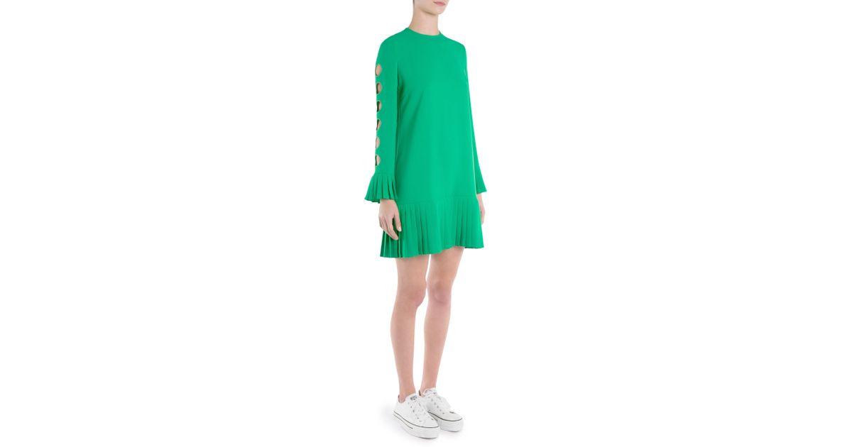Green short dress Sara Battaglia mTJQE