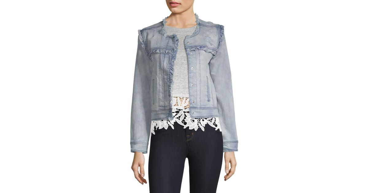 Image result for Generation Love Evie Ruffled Distressed Jacket