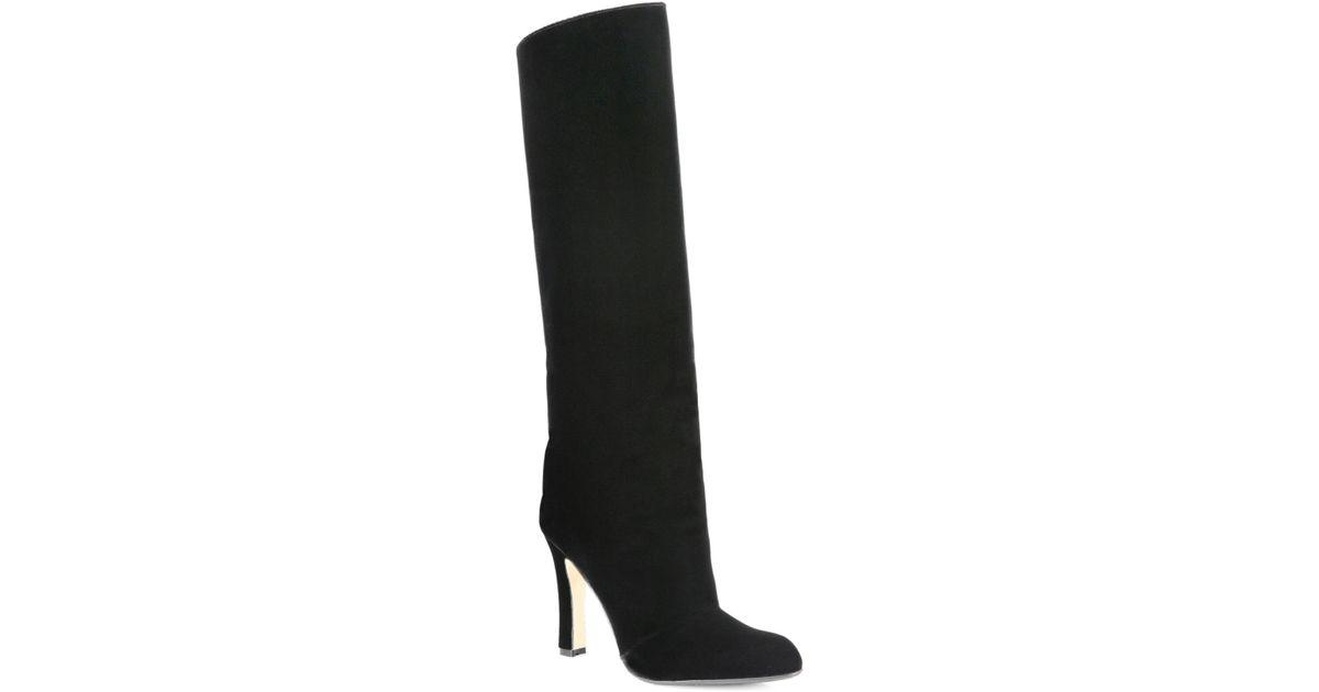 4d03ba1d754e6 Manolo Blahnik Black Khomo 105 Tall Velvet Boots
