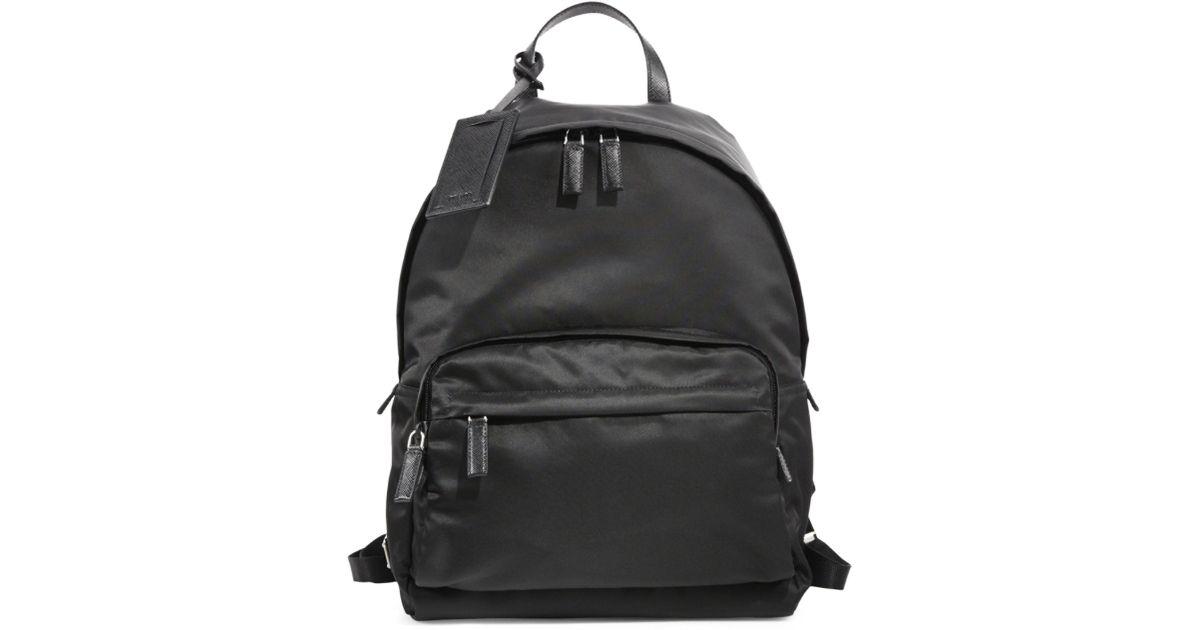 74649955d80b57 ... australia lyst prada zaino backpack in black for men 7c3d7 c6114
