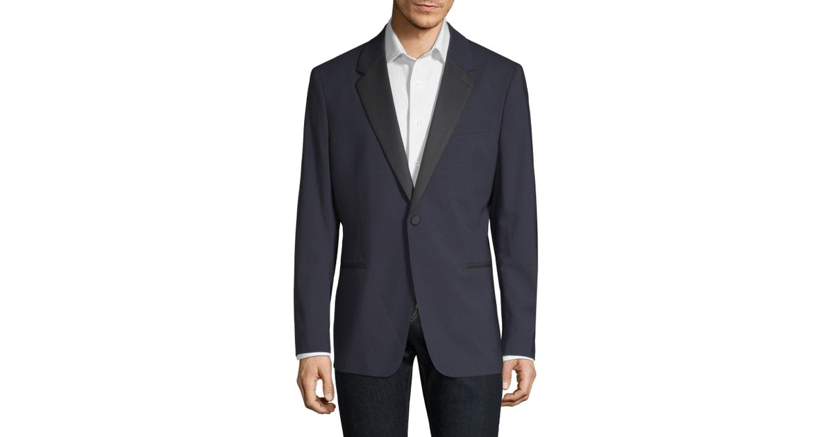 789df8e60a21 Lyst - Theory Chambers Wool Tuxedo Jacket in Blue for Men
