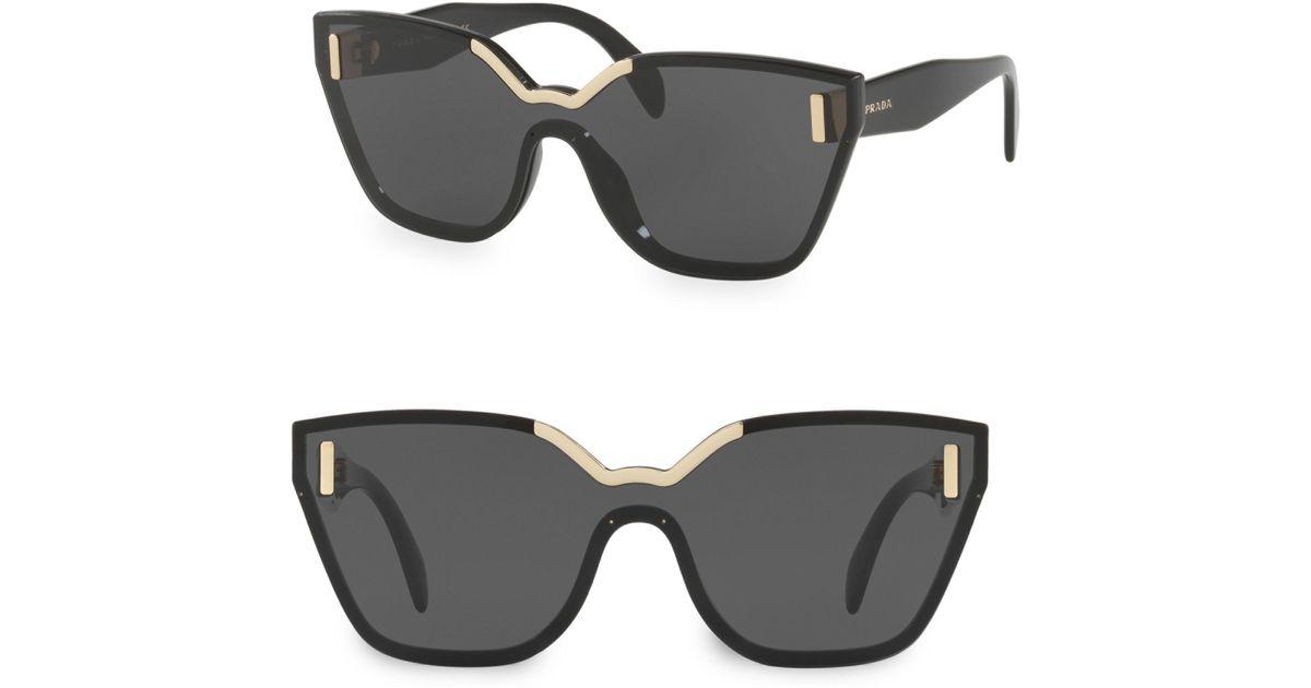 0e419ee485 Prada Black Hide Shield Sunglasses