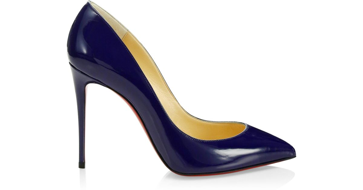 ee796976a053 Lyst - Christian Louboutin Pigalle Follies 100 Patent Leather Pumps in Blue