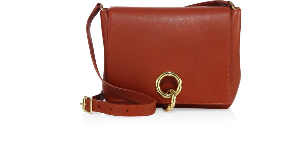 A L C Charlie Leather Crossbody Bag In