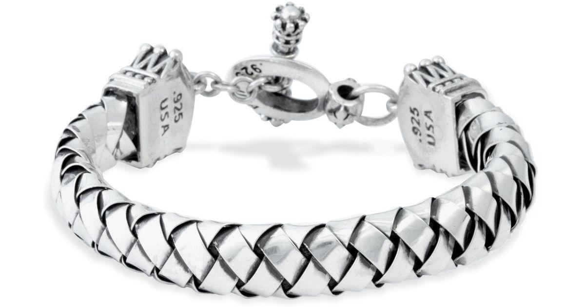 Lyst - King Baby Studio Circle And Bar Bracelet in Metallic