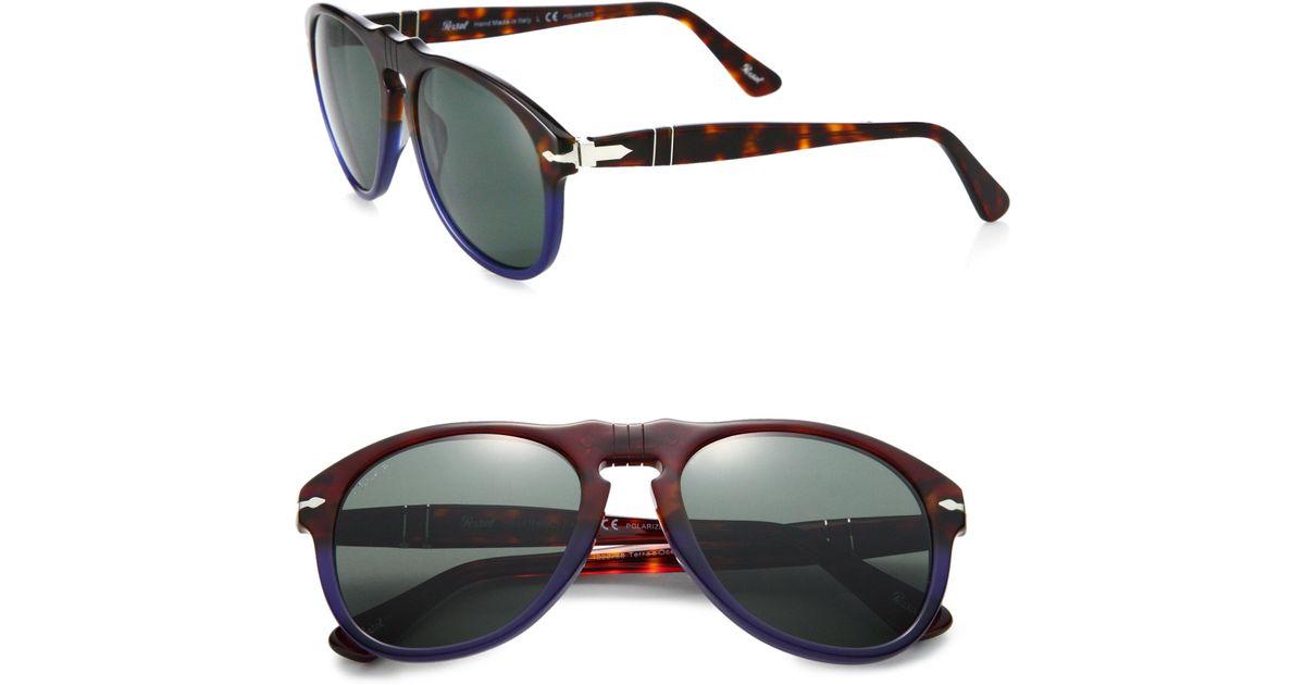 Persol Retro Lyst Keyhole Sunglasses For Blue Men 2E9IHDYW