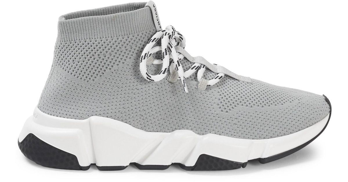 Speed Lace-up Sneakers in Grey (Gray